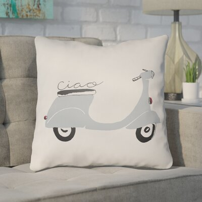 Alessa Indoor/Outdoor Throw Pillow Size: 20 H x 20 W x 4 D, Color: Gray