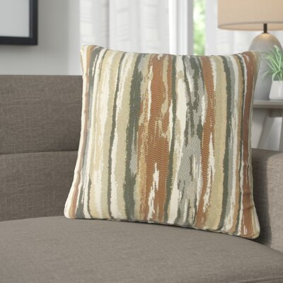 Jordynn Stripes Throw Pillow Color: Brown