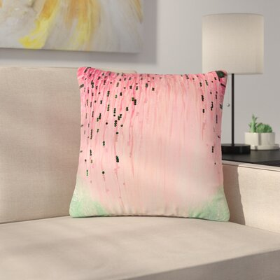 Ebi Emporium Mystic Garden Outdoor Throw Pillow Size: 16 H x 16 W x 5 D, Color: Pink