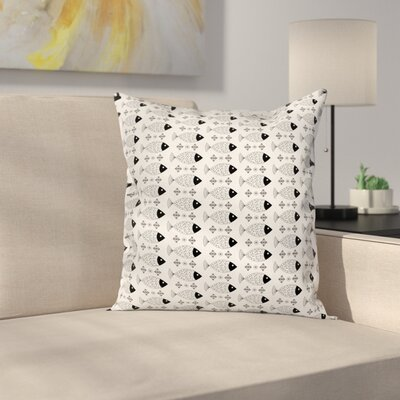 Sea Life Cushion Pillow Cover Size: 24 x 24