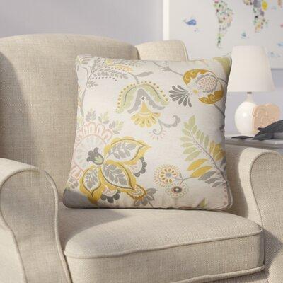 Calla Floral Cotton Throw Pillow Color: Graystone