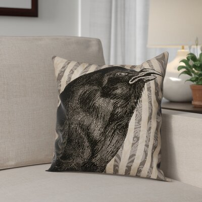 Crow Throw Pillow Pillow Use: Outdoor