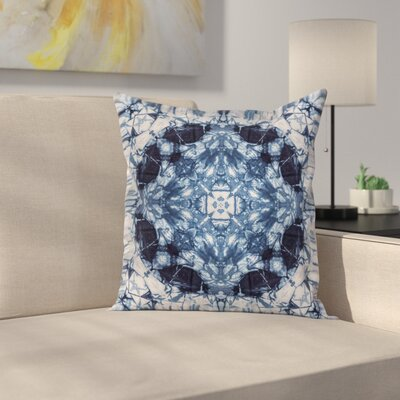 Paisley Tie Dye Hippie Square Pillow Cover Size: 16 x 16