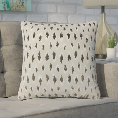 Wyndmoor Ikat Throw Pillow Color: Gray
