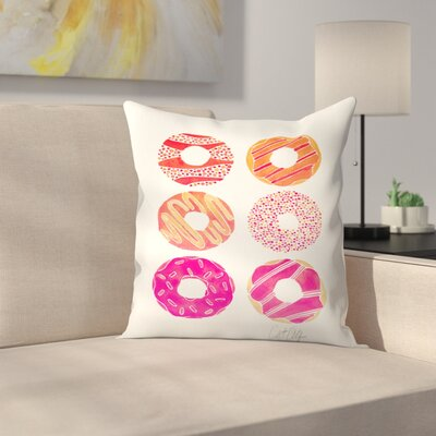 Half Dozen Donuts Throw Pillow Size: 16 x 16