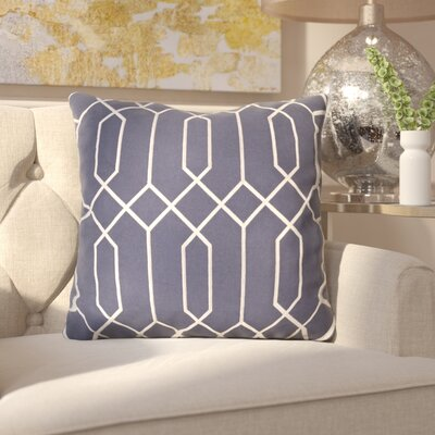 Kaivhon Geometric Linen Throw Pillow Size: 20 H x 20 W x 4 D, Color: Slate