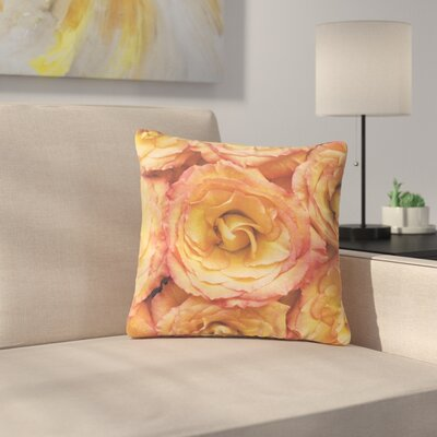 Kristi Jackson Bed of Roses Outdoor Throw Pillow Size: 16 H x 16 W x 5 D