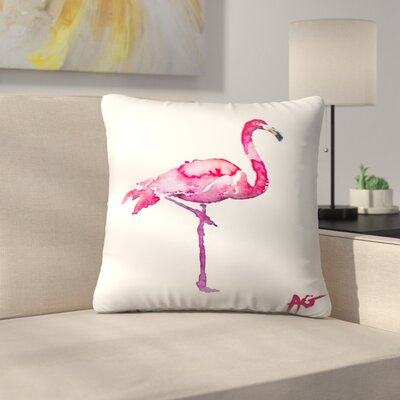 Flamingo Throw Pillow Size: 14 x 14