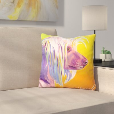 Chinese Crested Profile Throw Pillow