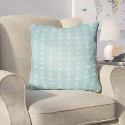 Collie Anchor Throw Pillow Size: 20 H x 20 W x 4 D, Color: Turquoise