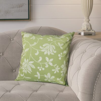 Cecilia Traditional Floral Outdoor Throw Pillow Size: 20 H x 20 W, Color: Green