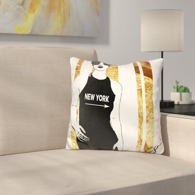 New York This Way Throw Pillow