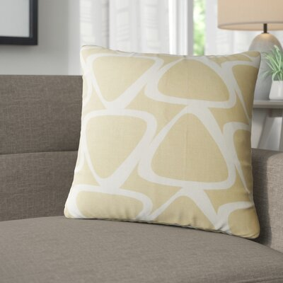 Cherish Geometric Cotton Throw Pillow Color: Tan
