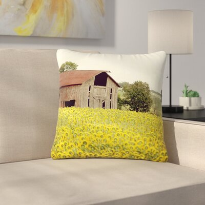 Angie Turner Field of Sunflowers Nature Outdoor Throw Pillow Size: 16 H x 16 W x 5 D