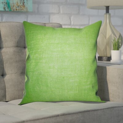 Portsmouth Solid Burlap Throw Pillow Color: Apple Green, Size: 18 H x 18 W