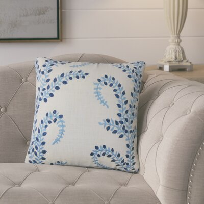 Bednarek Floral Linen Throw Pillow Color: Chambray