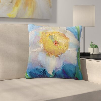 Carol Schiff Daffodil Day Outdoor Throw Pillow Size: 16 H x 16 W x 5 D