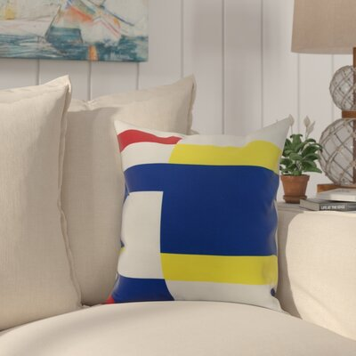 Cayer Multi Abstract Geometric Print Indoor/Outdoor Throw Pillow Size: 16 x 16