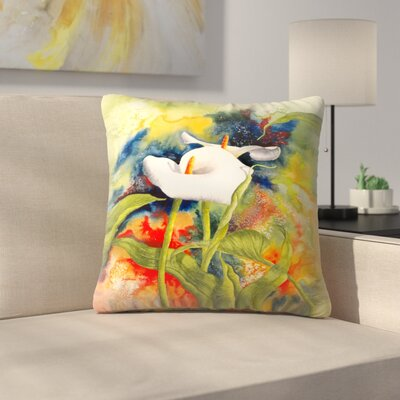 Sunshine Taylor Calla Dream Indoor/Outdoor Throw Pillow Size: 14 x 14