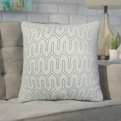 Wolfgram Geometric Cotton Throw Pillow Color: Gray