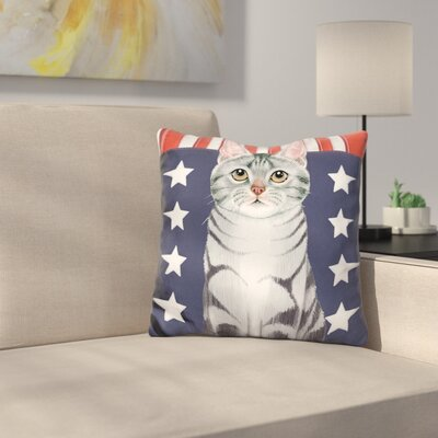 Patriot Cat Throw Pillow
