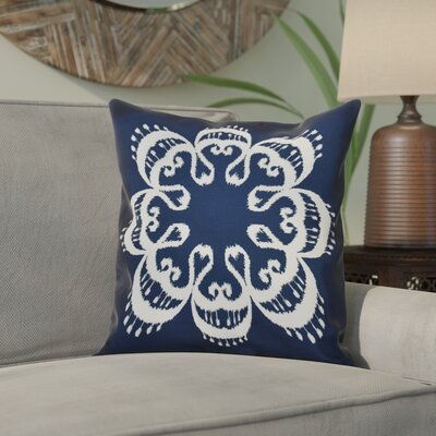 Meetinghouse Ikat Mandala Geometric Outdoor Throw Pillow Size: 20 H x 20 W, Color: Navy Blue
