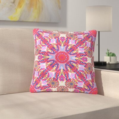 Miranda Mol Kaleidoscopic Floral Outdoor Throw Pillow Size: 18 H x 18 W x 5 D