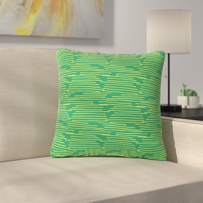 Holly Helgeson Twiggy Line Outdoor Throw Pillow Size: 16 H x 16 W x 5 D