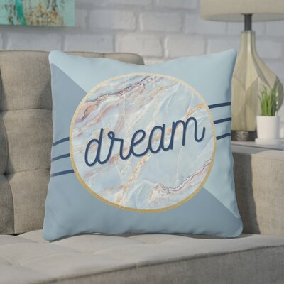 Trudel Marble Throw Pillow Size: 18 x 18