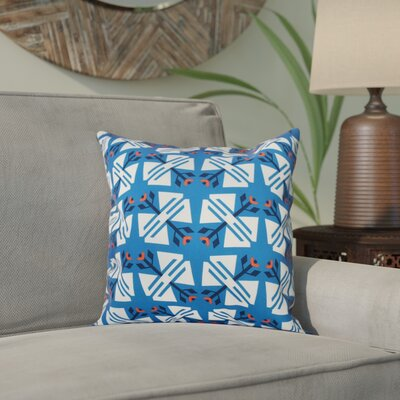 Willa Jodhpur Geometric Print Throw Pillow Size: 18 H x 18 W, Color: Blue