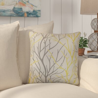 Willow Trees Cotton Throw Pillow Color: Canary