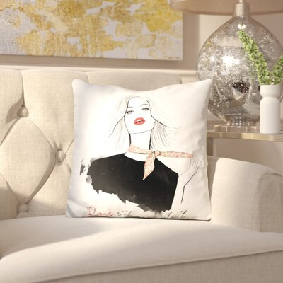 Albertina Rose Sil Vous Plait Throw Pillow