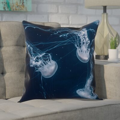 Nathaniel Jellyfish Square Pillow Cover Size: 14 x 14