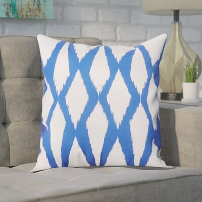 Blauvelt Decorative Hypo Allergenic Throw Pillow Size: 16 H x 16 W, Color: Dazzling Blue
