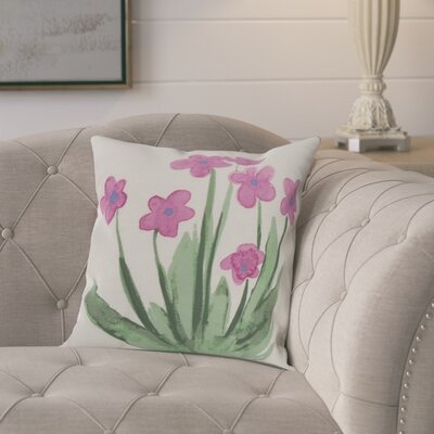 Laymon Throw Pillow Color: Pink, Size: 16 x 16