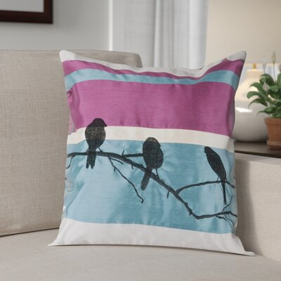 Aidy Birds on a Branch Pillow Size: 18, Filler: Polyester