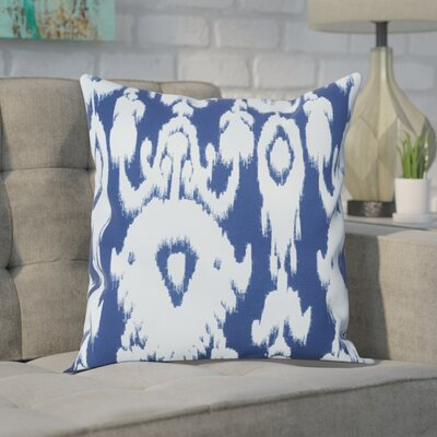 Decorative Polyester Throw Pillow Size: 16 H x 16 W, Color: Navy Blue
