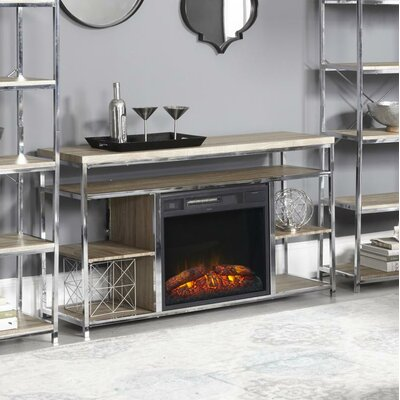 Halbert 35 TV Stand with Fireplace