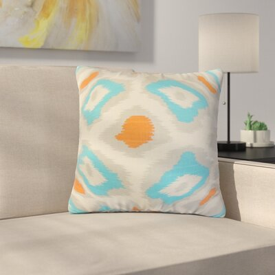 Studley Ikat Cotton Throw Pillow Color: Light Blue