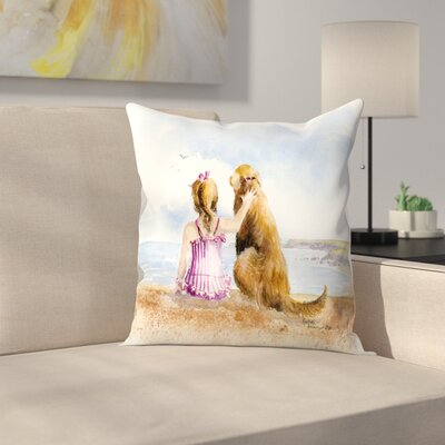 A Girls Best Friend Throw Pillow Size: 16 x 16