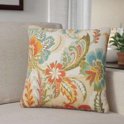 Fili Floral Cotton Throw Pillow Color: Autumn