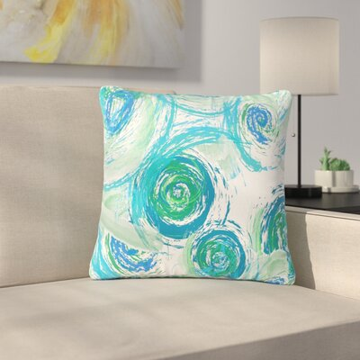 Alison Coxon Sophia Outdoor Throw Pillow Color: Green/Blue, Size: 16