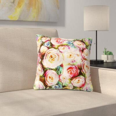 Dawid Roc Rose Romantic Gifts Photography Outdoor Throw Pillow Size: 18 H x 18 W x 5 D