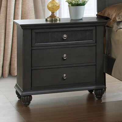 Fulbright 3 Drawer Nightstand
