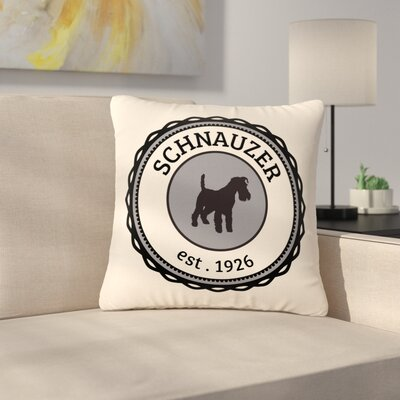 Schnauzer Outdoor Throw Pillow Size: 16 H x 16 W x 5 D