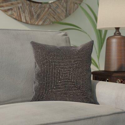 Sieben Throw Pillow Size: 24 H x 24 W x 0.5 D, Color: Black