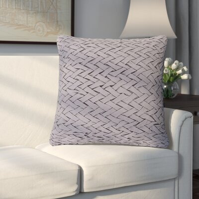 Eastlawn 100% Cotton Throw Pillow Size: 18 H x 18 W x 4 D, Color: Light Gray