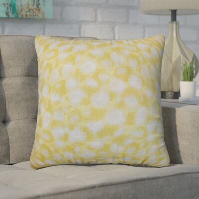 Kibby Throw Pillow Color: Banana, Size: 22 x 22