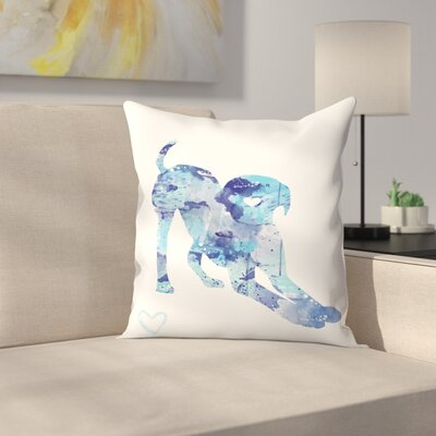 Labrador Puppy Throw Pillow Size: 16 x 16