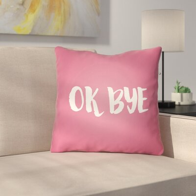 Indoor/OutdoorThrow Pillow Size: 18 H x 18 W x 4 D, Color: Pink